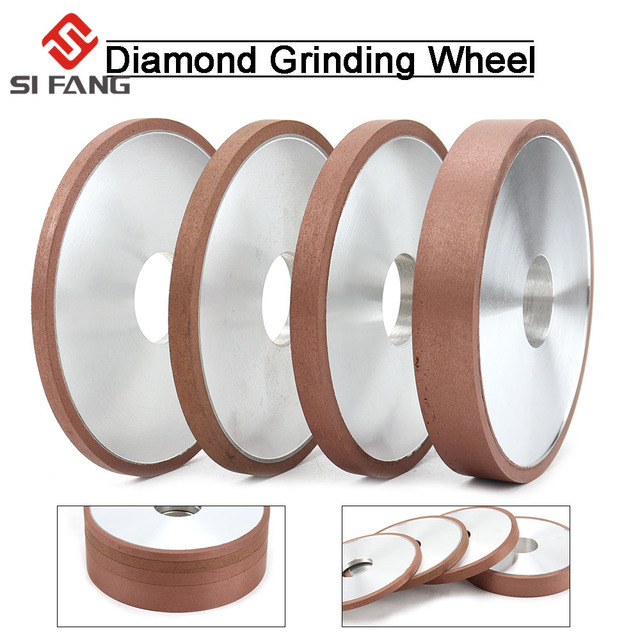 150mm 200mm Diamond Grinding Wheel parallel Grinder Disc for Mill Sharpening Tungsten Steel Carbide Rotary Abrasive Tools