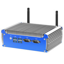 O mini pc fanless intel core i7 4500u i5 4200u duplo gigabit ethernet rs232 hdmi vga wifi 4xusb3. 0 windows 10 micro pc industrial(China)