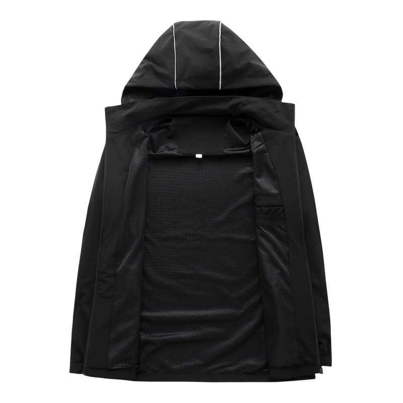 Neue 2020 Plus Größe 8xl 7xl 6xl 5xl Herbst Neue Mode Slim Fit Junge Männer Mit Kapuze Jacke Dünne Jacken Marke casual Jacke
