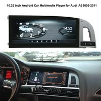 10.25 inch Android Car Multimedia Player for Audi A6 A6L 2005 2011 auto GPS Original Factory Panel Design
