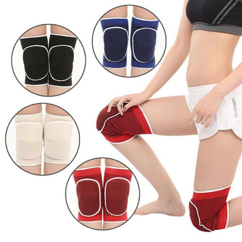 Volleyball Knee Pads Youth Girls Anti-Collision Non-Slip Breathable Elastic Adjustable Dance Protective Gear with Thick Sponge for Women Men Ladies Boys