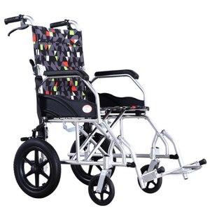Image 5 - 車いす高齢者のためのポータブル車椅子ulti機能折りたたみライトレジャー手すり小旅行アルミ合金無効