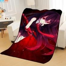 Kill-Blankets Beds Travel for Throw Soft Summer Anime Akame-Ga Custom