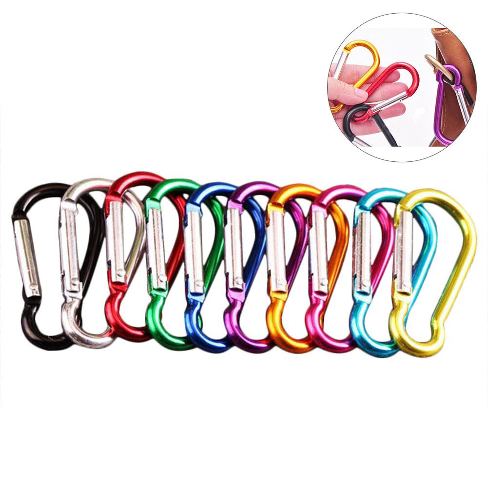 20PCS 48MM Aluminum Alloy Carabiner Outdoor Hanging Buckle Water Bottle Lightweight Sturdy Practical Bag Buckle High Quality