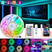 Tira de luces Led con Bluetooth, cinta Flexible de 2M-30M RGB 5050 2835, Wifi, para habitación, hogar, fiesta de navidad