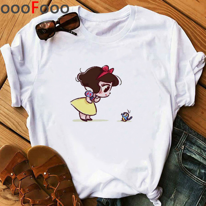 Vogue Princess Kawaii Funny Cartoon T Shirt Women Harajuku Ullzang Grunge T-shirt 90s Anime Tshirt Cute Grapihc Top Tees Female