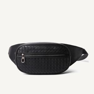 Image 1 - Bel çantası erkekler çok cep rahat Fanny çantası para telefonu bel çantası 100% hakiki deri inek derisi omuz kemer paketi