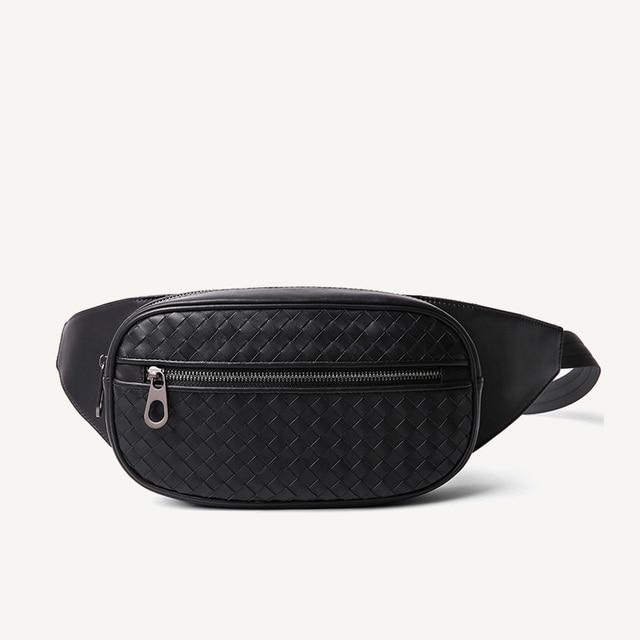 Bel çantası erkekler çok cep rahat Fanny çantası para telefonu bel çantası 100% hakiki deri inek derisi omuz kemer paketi