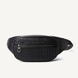 Bolso de cintura para hombre Multi-Bolsillo Casual riñonera dinero teléfono cinturón bolsa 100% cuero genuino cuero de vaca correa de hombro paquete