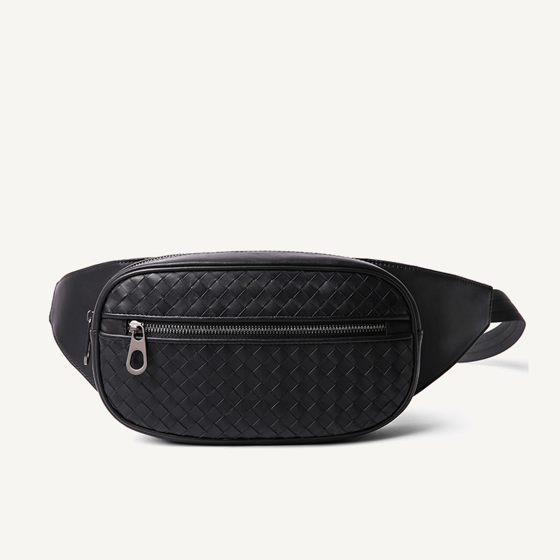 Waist Bag Men Multi-pocket Casual Fanny Bag Money Phone Belt Bag 100% Genuine Leather Cowhide Shoulder Belt Pack