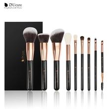 DUcare 9PCS Makeup Brushes Set Professional Natural Goat Hair Brushes Foundation Powder Contour Eyeshadow Make up Brushes Set