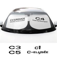 אביזרי רכב לסיטרואן C1 C3 C4 C5 C6 C ELYSEE VTS רכב שמשה קדמית שמשיות שמשייה מגן כיסוי אוטומטי אנטי UV רפלקטור