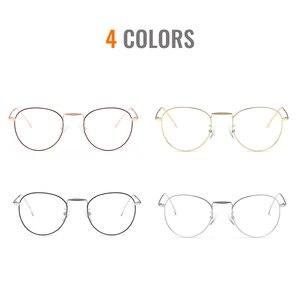 Image 5 - Toketoryzm okulary blokujące niebieskie światło komputerów metalowa rama okrągłe okulary dla kobiet i mężczyzn 580