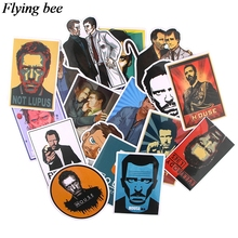20sets/lot (17pcs/set) Flyingbee tv show Stickers for DIY Luggage Laptop Skateboard Car Bicycle Stickers X0728