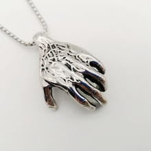 Muscle hand necklace Vintage silver color 316L stainless steel hand pendant necklace men punk stylish hip hop necklace jewelry shiying jz014 men s stylish 316l stainless steel ring silver