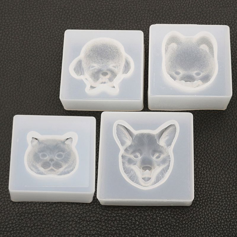 New Cute Pet Dog Cat Bear Pendant Resin Silicone Mold Jewelry Making Tools Art Craft Fashion Jewelry Tool(China)