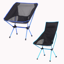 Portable Moon Chair Ultralight Folding Camping Chair Extended Fishing Beach Chair Travel Hiking Picnic Seat Outdoor Furniture cheap Metal Aluminum Modern Outdoor Folding Moon Chair about 150kg 35x12x9cm lengthen style 42x16x15cm Blue Sky Blue Red Orange