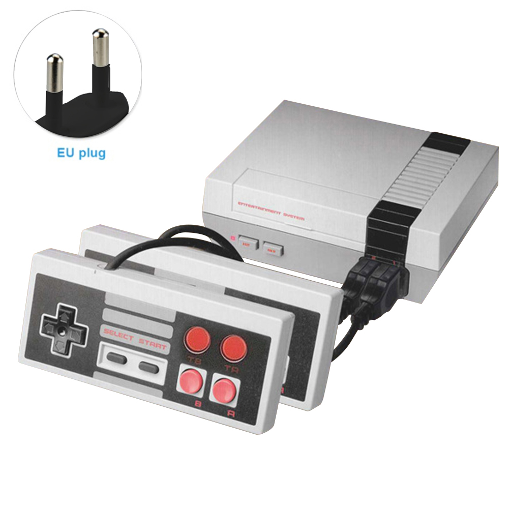 Vintage Plug-in Card Gaming Player Electronics Retro NES 2 Controller Video TV Game Console Gift Childhood 8 Bit Family Handheld