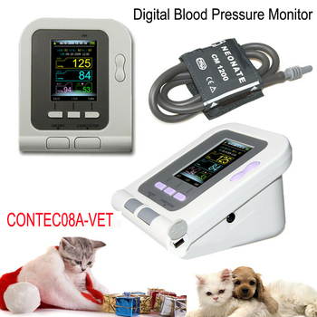 цена на 08A-VET Portable Veterinary Blood Pressure Monitor Digital Animal Electronic Sphygmomanomete PR Pulse Tester 6-11cm Cuff CE FDA