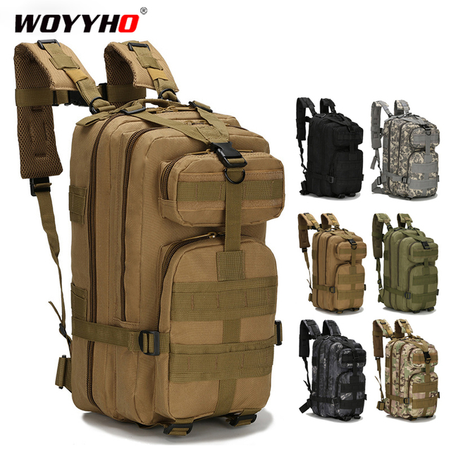 25 30L Tactical Backpack Mens Hiking Trekking Traveling Backpack Army Military Backpack Outdoor Sport Climbing Bags