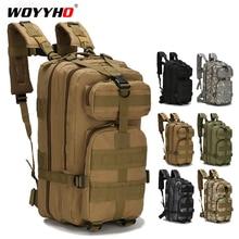 Mochila táctica de 25 30L para hombre, mochila de viaje de senderismo, mochila militar del ejército, bolsas de escalada para deportes al aire libre