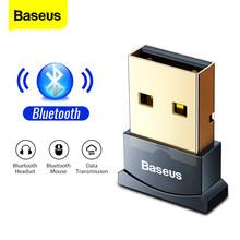 Baseus adaptador Bluetooth USB Dongle para PC ordenador ratón inalámbrico teclado Aux Audio Bluetooth transmisor receptor