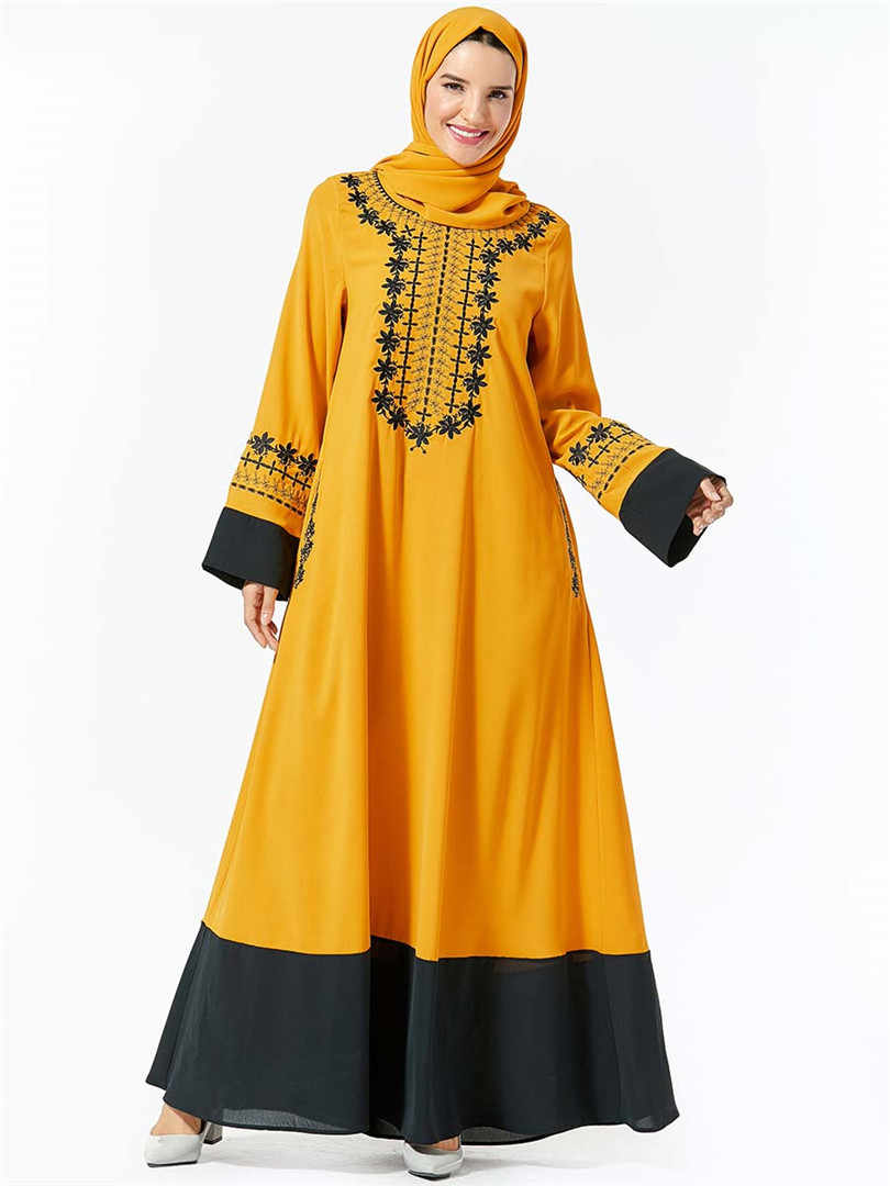 아랍어 이슬람 abaya 터키 hijab 이슬람 드레스 의류 여성 caftan 두바이 kaftan 가운 musulmane tesettur elbise 터키어 드레스
