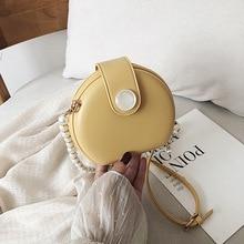 Malá okrúhla kabelka s perlami 5farieb