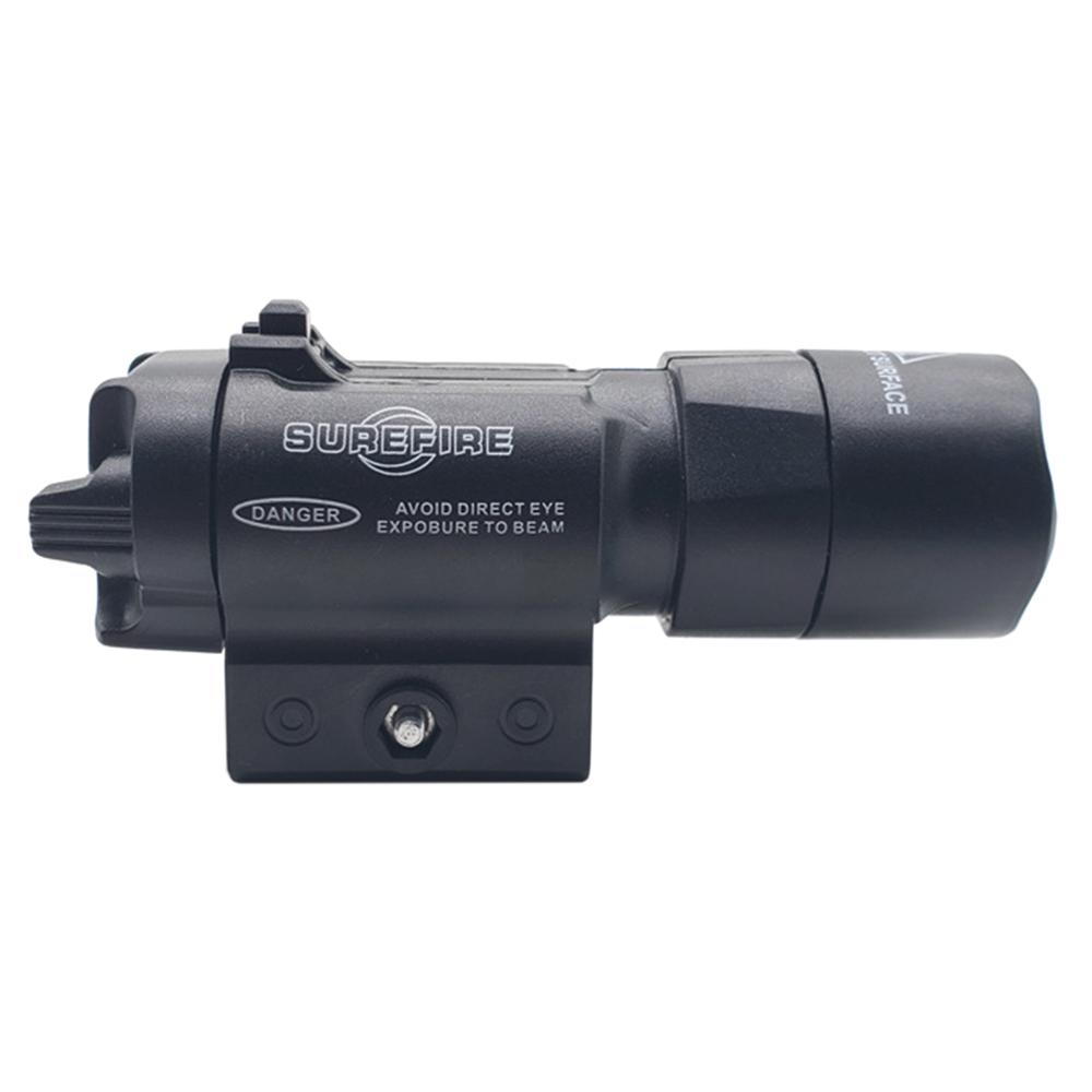 ABS Glare Tactical Flashlight For Outdoor Activity Used For The Decoration Of Water Gel Beads Suitable For 21mm Rail - Black