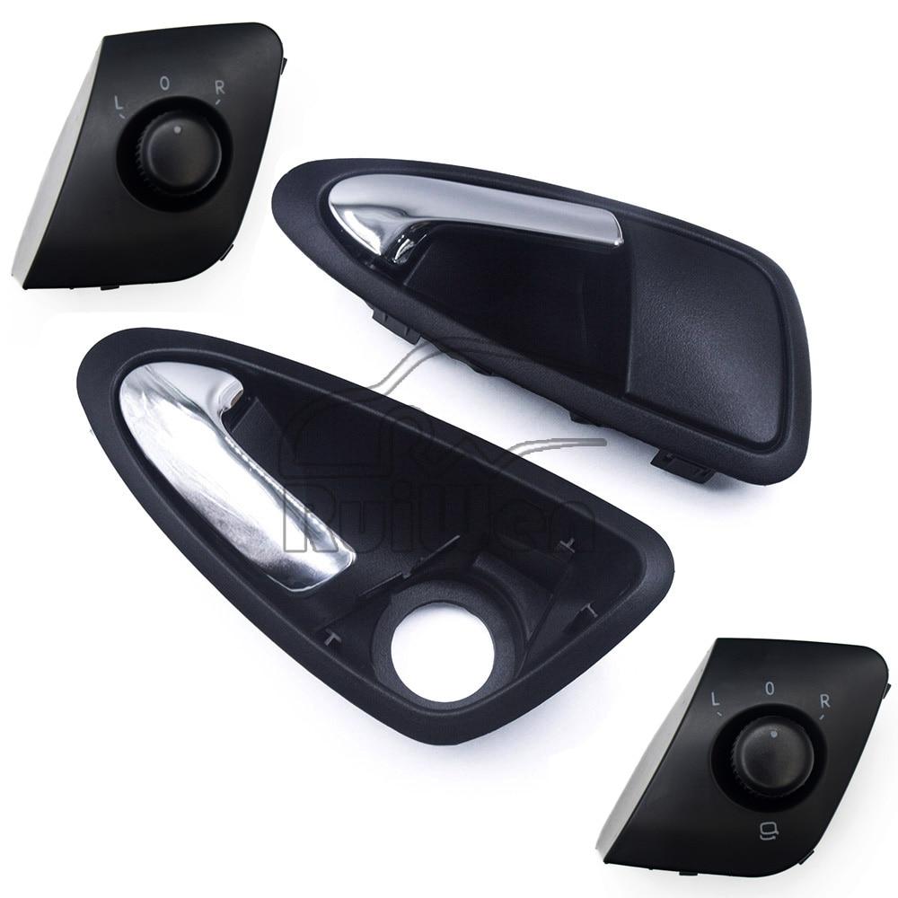 Матовые передние, задние, левые, правые ручки для салона автомобиля, 6J0837114A, для Seat Ibiza 6J0837113A 6J1959565