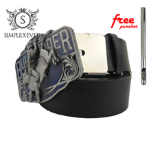 3D Bull Solid Silver Belt Buckle Western Metal Cowboy Men's with Leather As Birthday Gifts