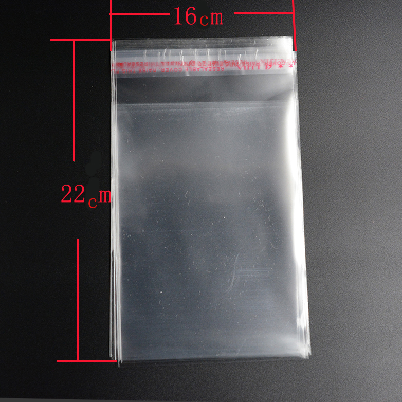 Pouches 50pcs 16*22cm Clear Resealable Cellophane/BOPP/Poly Bags Transparent OPP Packing Plastic Bags Self Adhesive Seal