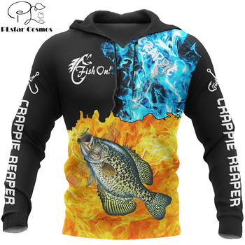 Fishing reaper Crappie hoodie unisex