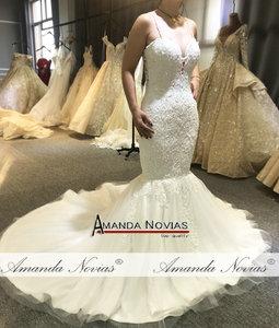 Image 4 - סקסי ואגלי בת ים חתונת שמלה עם שקוף נחמד חזרה דגי חתונה שמלה