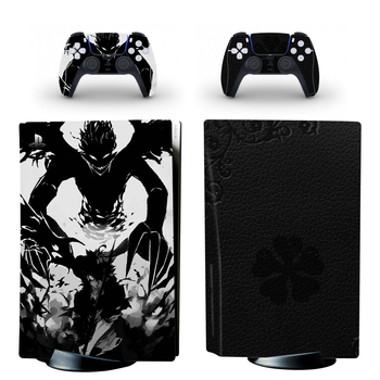 Black Clover PS5 Standard Disc Edition Skin Sticker Decal Cover for PlayStation 5 Console & Controllers PS5 Skin Sticker Vinyl 2