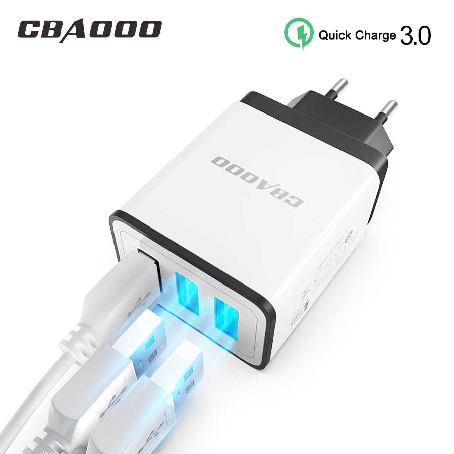 CBAOOO Quick Charge 3,0 cargador USB QC3.0 pared cargador de teléfono móvil para iPhone Xiaomi Tablet iPad UE enchufe QC carga rápida