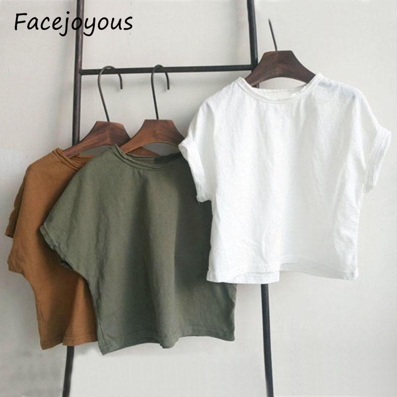 2020 Soft Cotton Children's Summer Short Sleeve T Shirts Baby Shoulder Sleeve Art Semi-sleeved Shirts Boys T-shirt Girls Tee