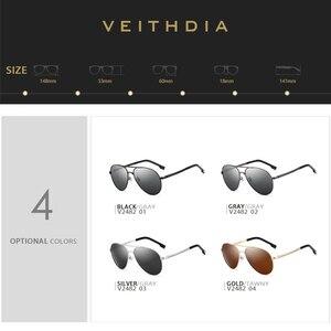 Image 4 - Veithdia óculos de sol masculino polarizado, óculos de sol vintage, polarizado, clássico, direção de lentes para homens e mulheres 2482