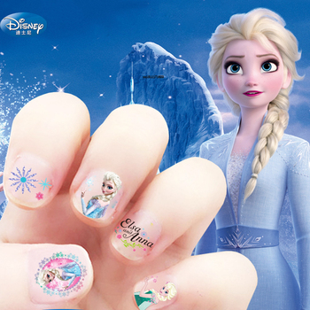 2 pcs/lot Disney Princess Nail Sticker Baby Girls  Frozen 2 Cartoon DIY Nail Sticker Elsa and Anna mickey Toys For Kid gift 31cm disney frozen 2 princess anna and elsa doll for girls toys high quality for plastic baby dolls congelad children gift