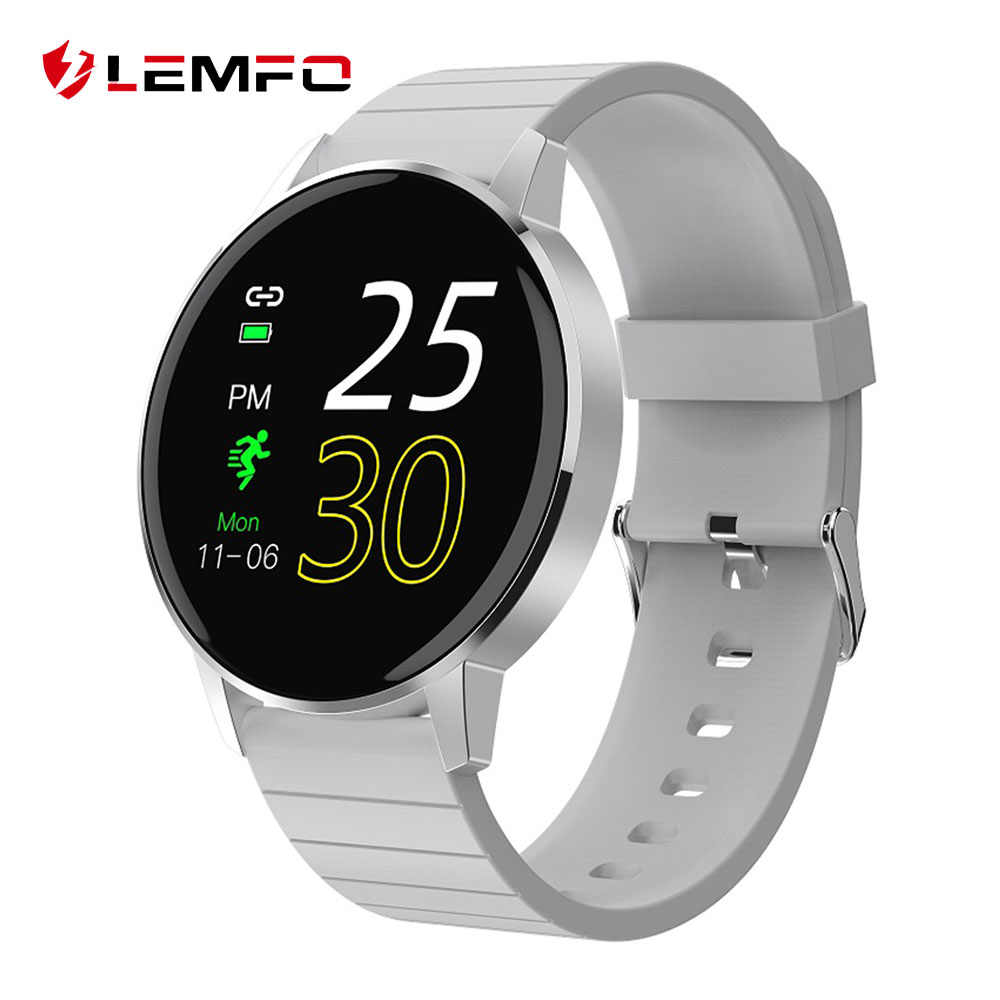 LEMFO T4 Pro 1.3 بوصة HD ساعة ذكيّة بشاشة لمس رجال نساء معدن حافظة IP68 مقاوم للماء معدل ضربات القلب Smartwatch ل أندرويد