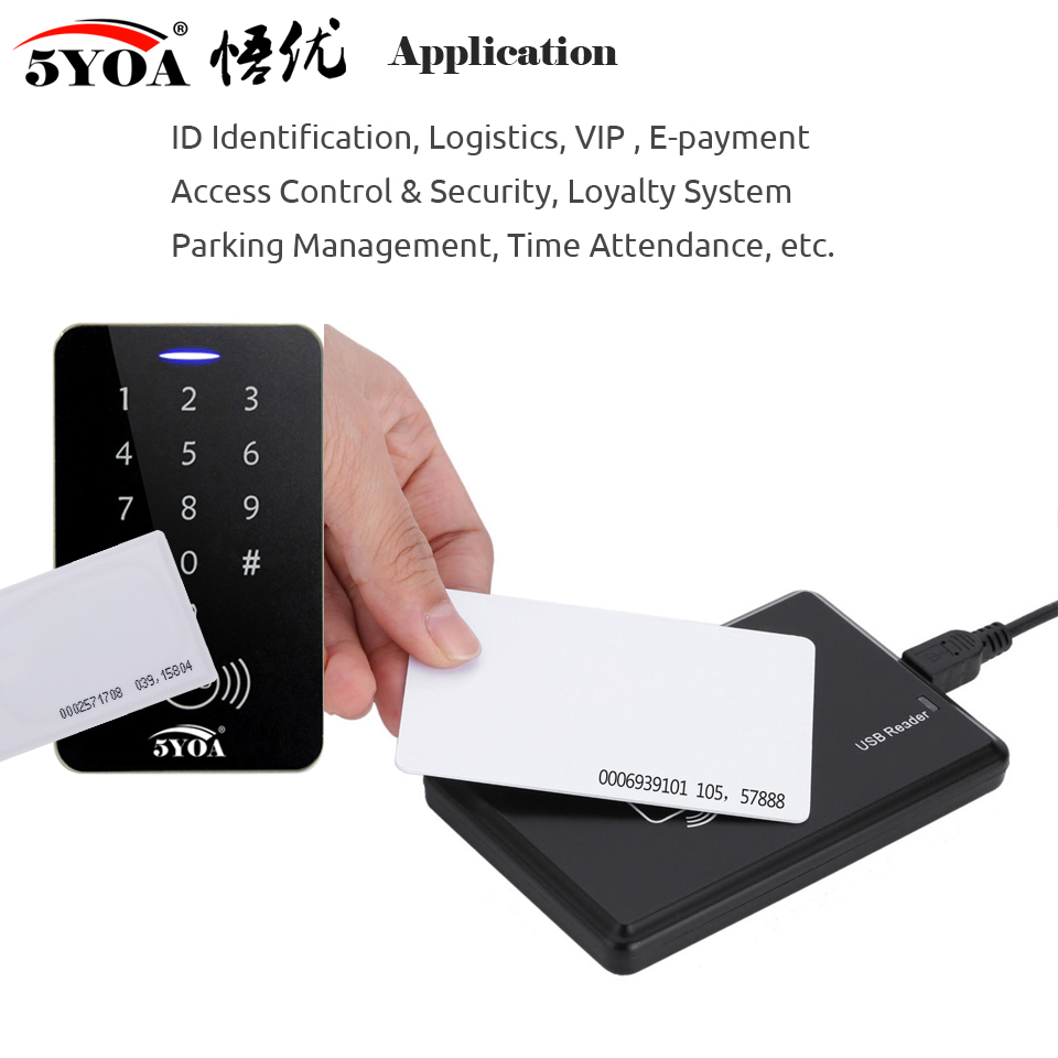 He599340f93e64a7383574d02c9fdcb500 10pcs 1.8mm EM4100 Tk4100 125khz Access Control Card Keyfob RFID Tag Tags Key Fob Token Ring Proximity Chip