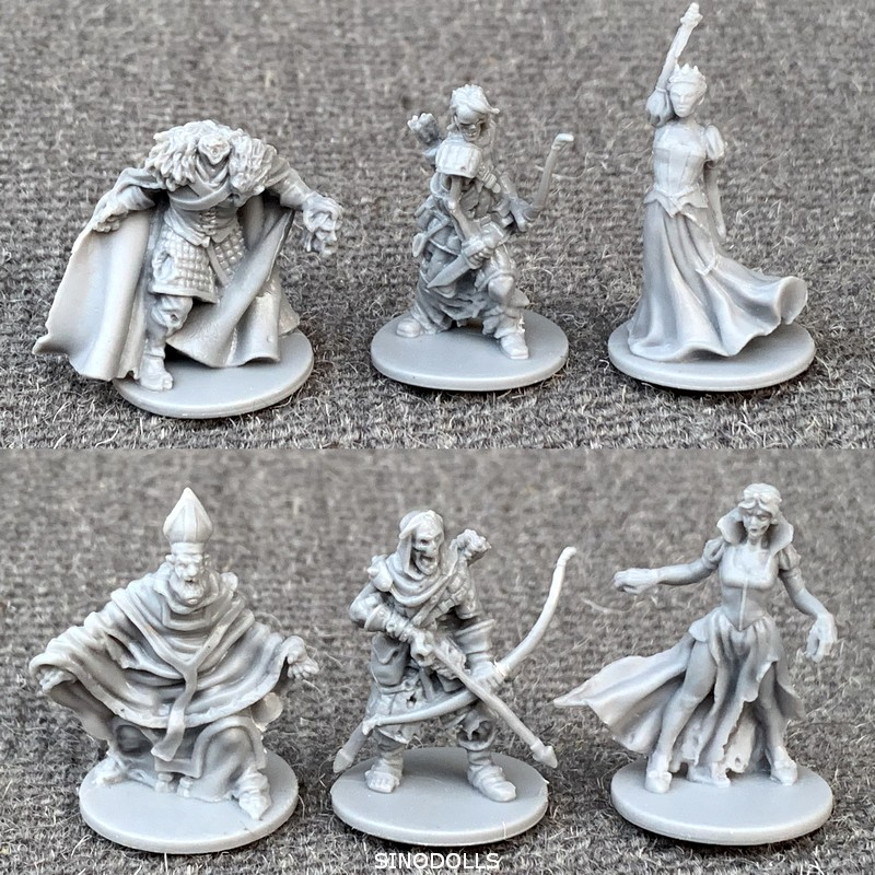 6pcs/Set Dungeons And Dragons Board Role Playing Games Miniatures D & D Model Underground City Series Cthulhu Wars Game Figures