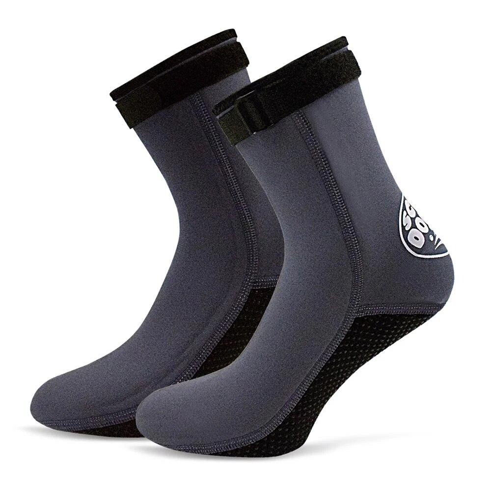 3mm Neoprene Booties Anti-slip Snorkeling Diving Socks Boots Water Footwear NEW