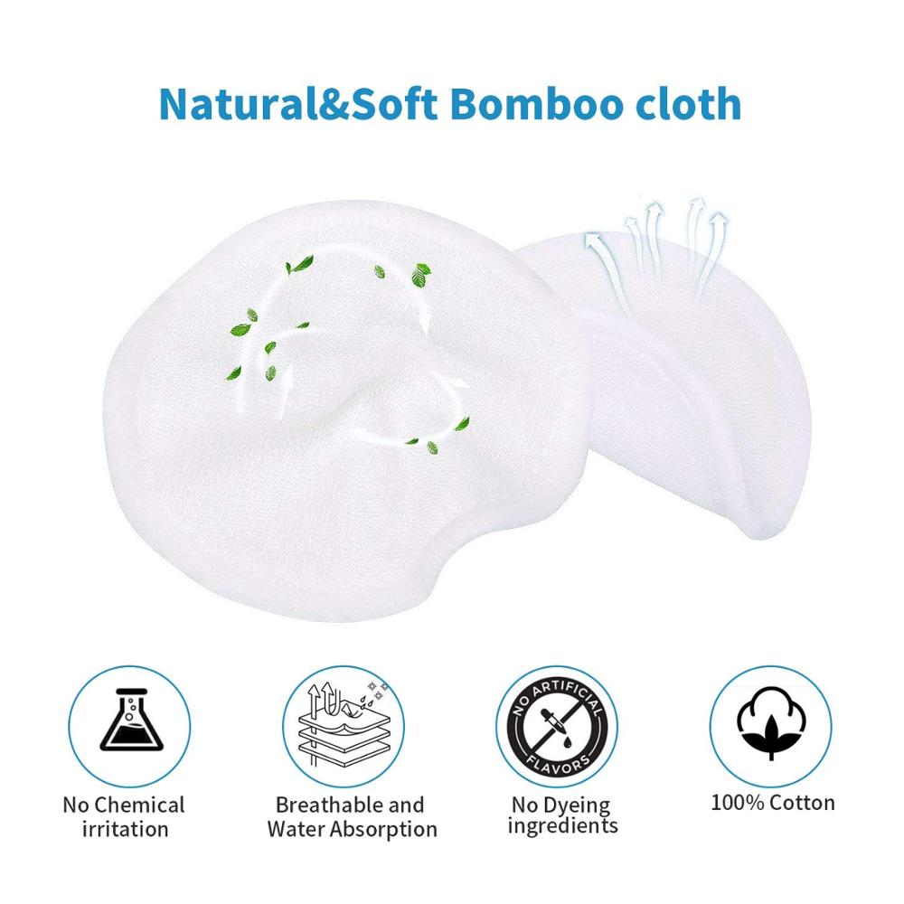Многоразовые подушечки для снятия макияжа 55 пакетов моющиеся Экологичные бамбуковые ватные диски - 2