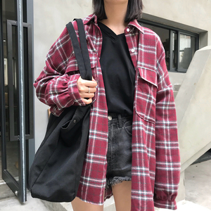 Image 3 - Shirts Loose Harajuku Korean Style Fashion Women New Single Breasted BF Sunscreen School Students Long Sleeve Womens Shirt Daily