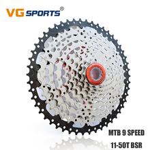 цена на MTB Bicycle Freewheel Cassette 9 Speed 50T Fixie cog cdg Sprocket For Shimano SRAM Flywheel 9 Velocidade 50T 9S 9V 50T VG Sports
