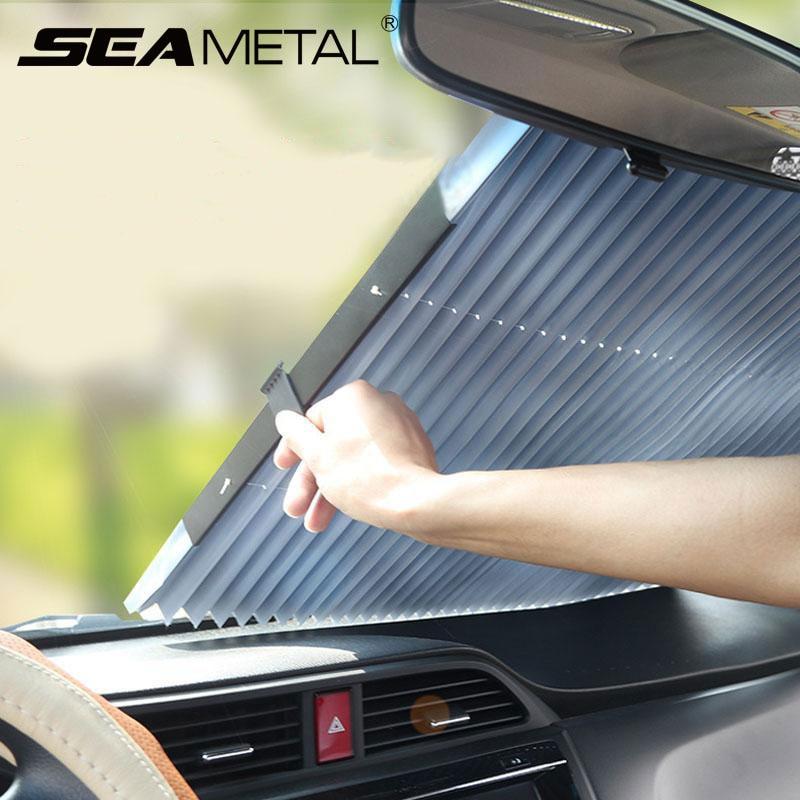 Universal Car Retractable Foldable Sun Shield Windshield Sunshade Cover Shield Curtain Auto Sun Shade Block Car Window Shade