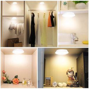 Image 5 - 5LEDs Lamps Dimmable LED Cabinet Light Battery Powered Wireless Touch Sensor Or Remote Controller Wardrobe Stairs LED Night Lamp