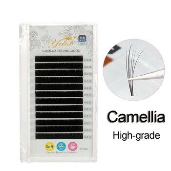 Yelix nuevas pestañas de Camelia hechas a mano de alto grado Pandora pestañas de visón faxu extensiones de pestañas gruesas/naturales profesionales