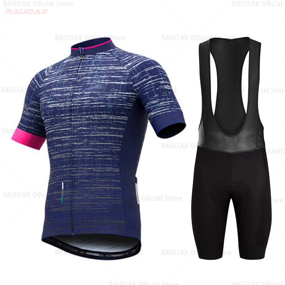 Mens Cycling Jersey And Bib Short Set For 2019 Team Short Sleeve Cycling Jersey